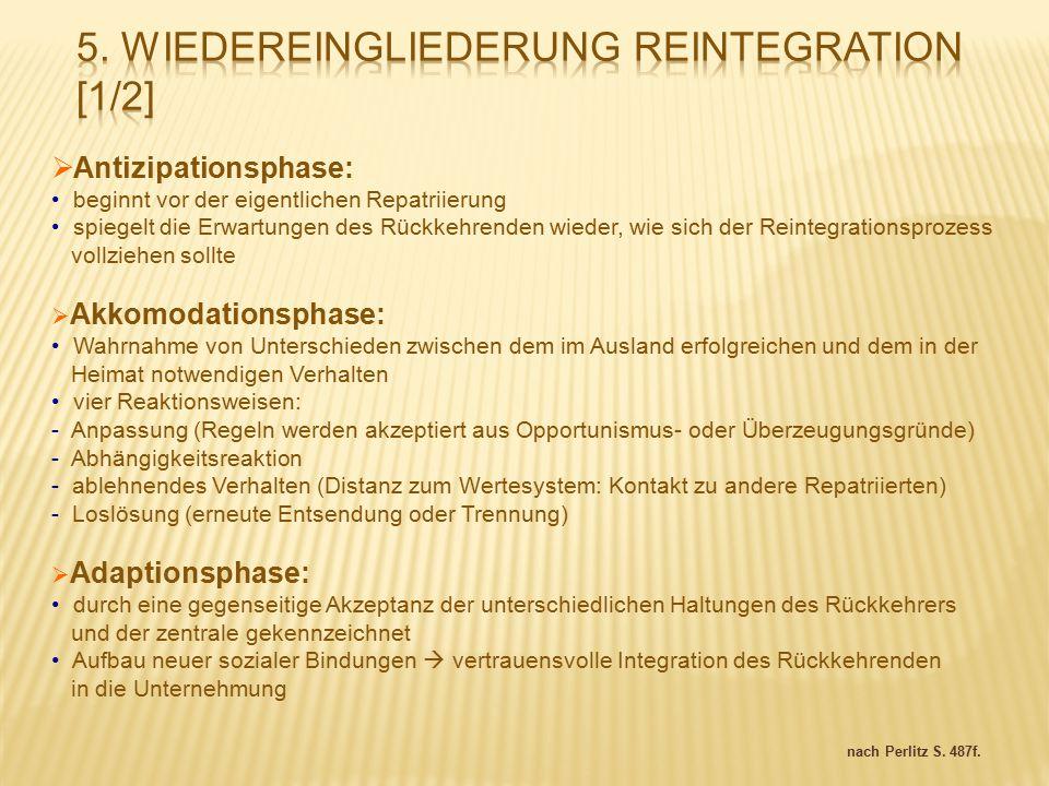 5. Wiedereingliederung Reintegration [1/2]
